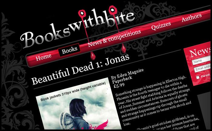 Books With Bite website design