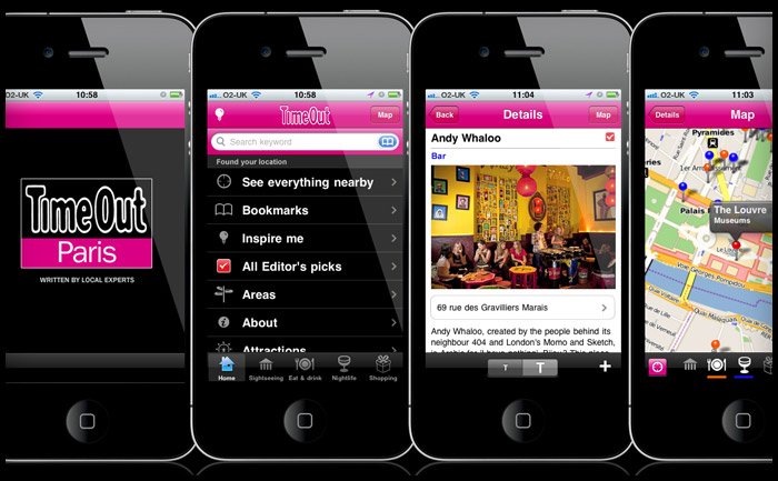 Time Out City Guide travel iPhone app