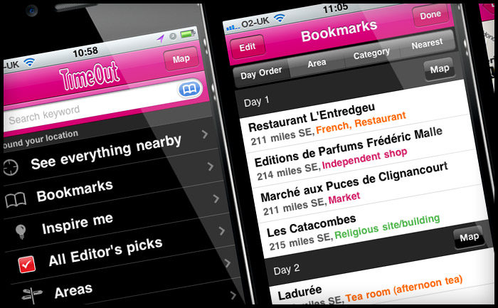 Time Out City Guide iPhone apps