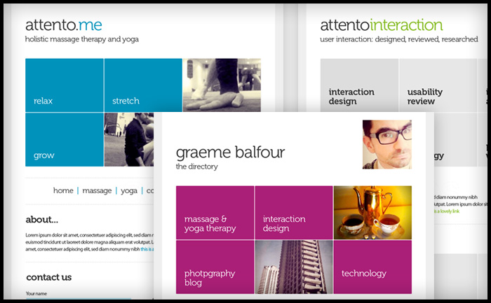 Graeme Balfour - Attento Interaction Design | Yoga Therapy | Massage Therapy site
