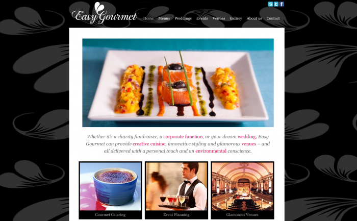 Easy Gourmet Catering new CMS website