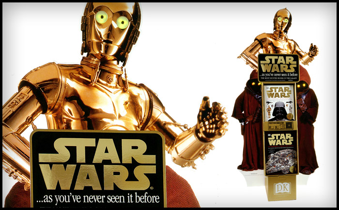 C-3PO Point of sale - Dorling Kindersley Star Wars books