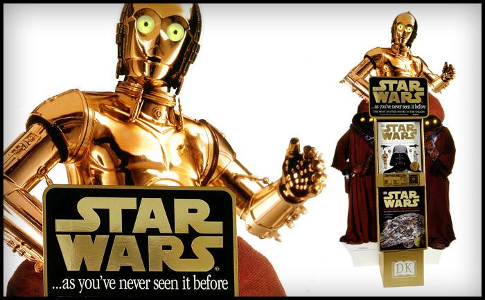 C-3PO Point of sale - Dorling Kindersley Star Wars books
