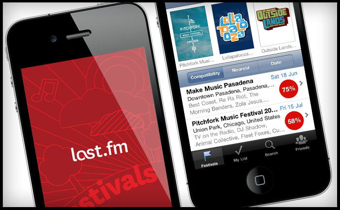 Last.fm Festivals iPhone app