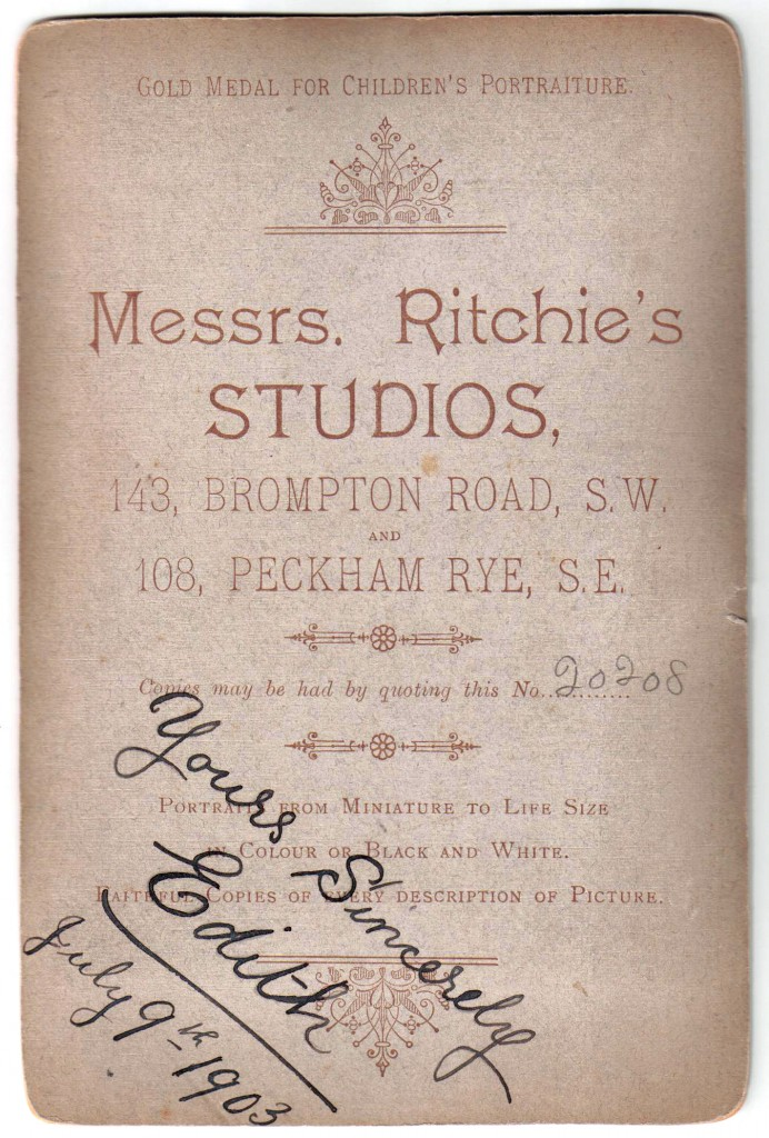 1903 Ritchie & Co, Photography 108 Peckham Rye and 143 Brompton Road