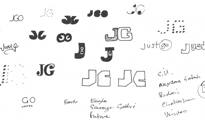 Justogo Music logo sketch