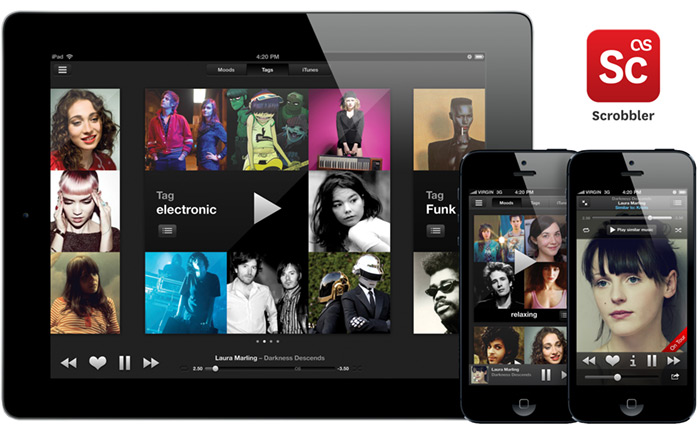 Last.fm tablet & mobile iOS iPad & iPhone app – Scrobbler