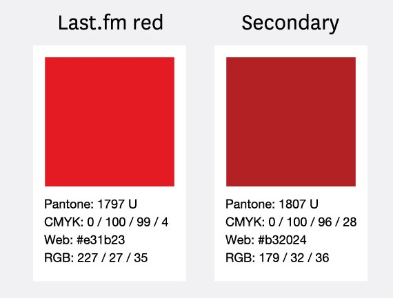 Last.fm official red - Pantone 1797
