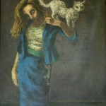 Painting of Meave Peake, wife of Athor Mervyn Peake