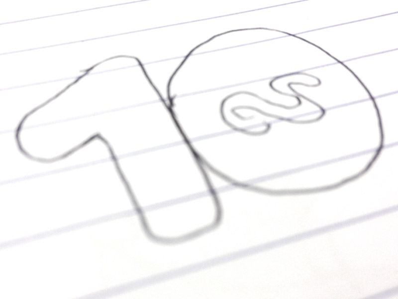 10 Years Anniversary data visualisation - logo design