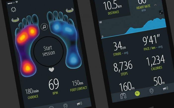 Sensoria Fitness iPhone & Android app design