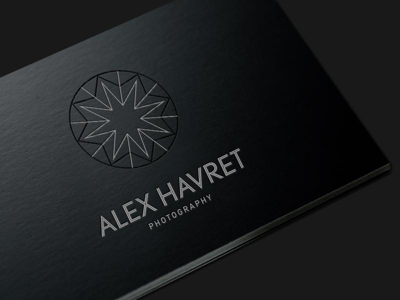 Diamond logo business card for wedding photographer
