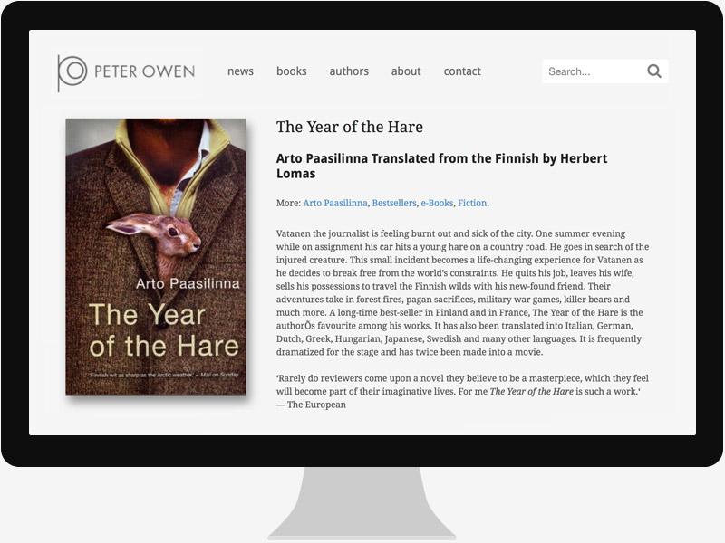 Web designer for publisher Peter Owen