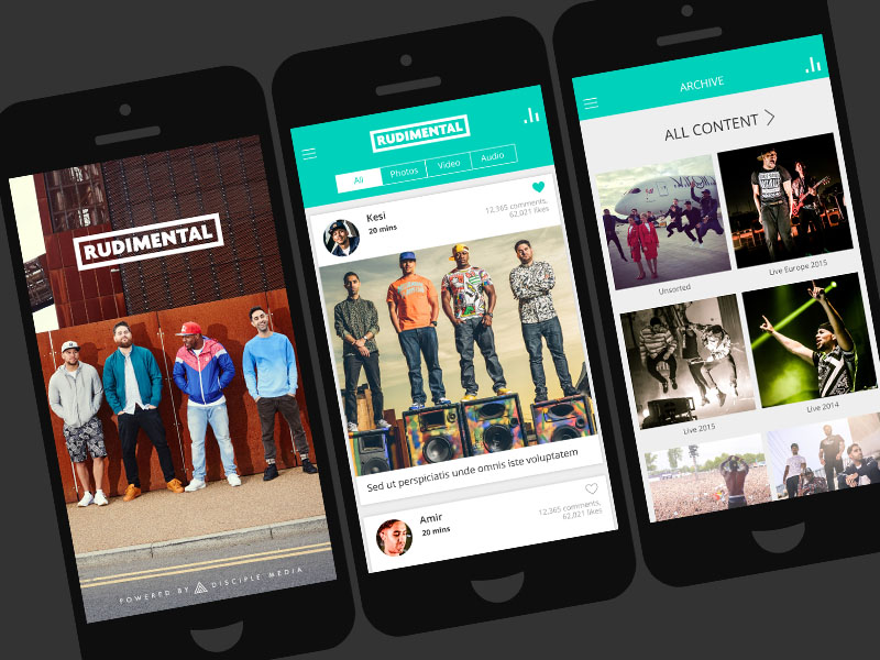 Rudimental Music app for iPhone and Andriod