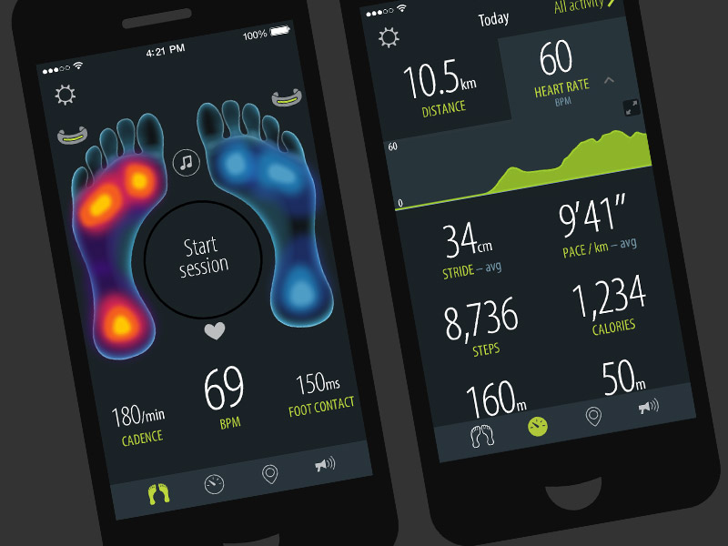 Sensoria fitness wearables app with AI coaching